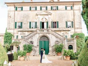 Façade of Villa Cetinale in Tuscany