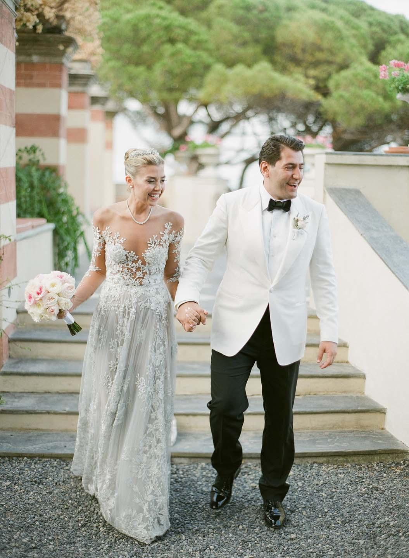 bridal couple in portofino