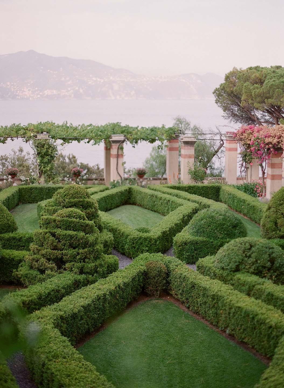 Italian gardens of La Cervara