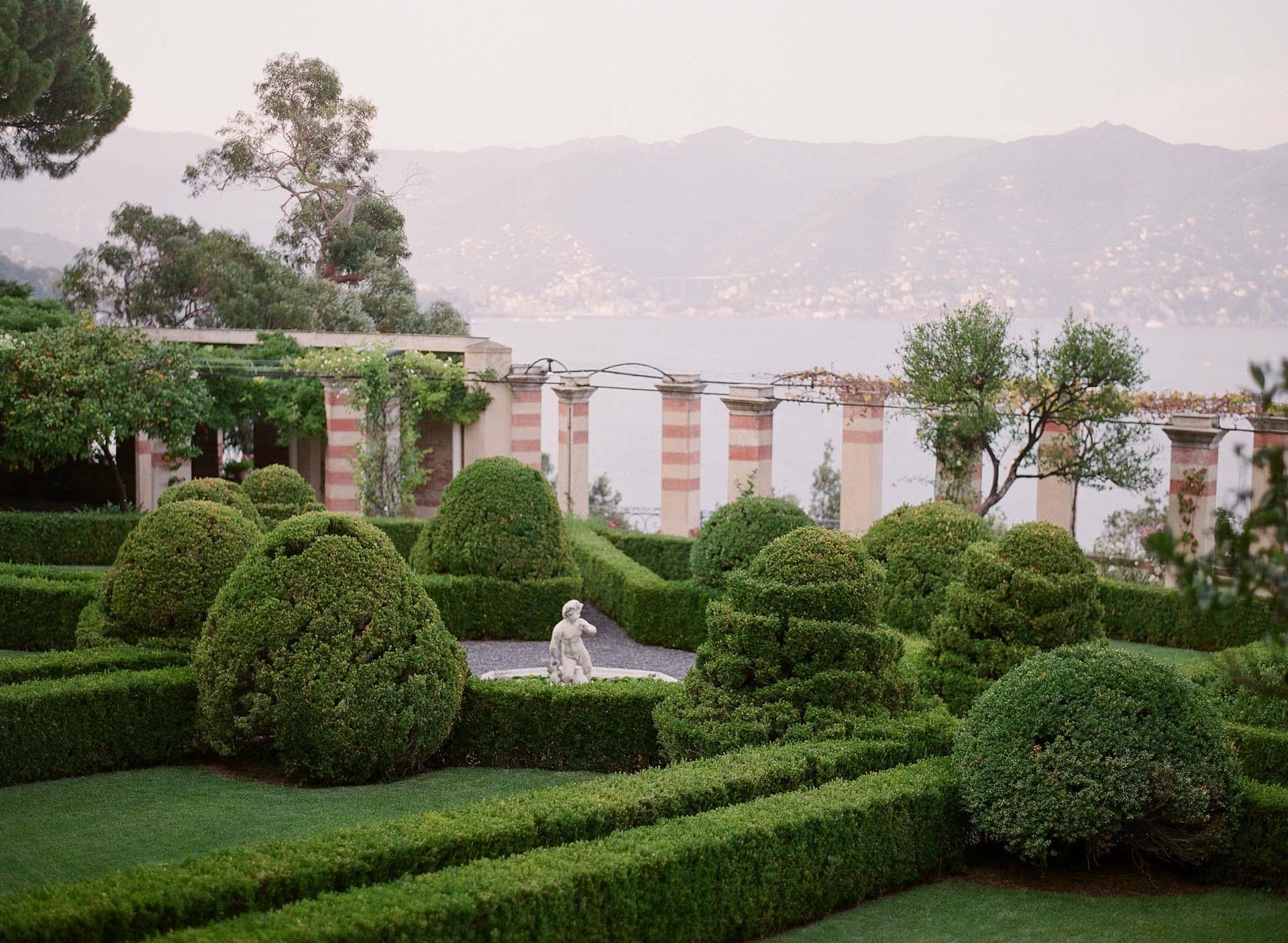 Italian gardens in Portofino