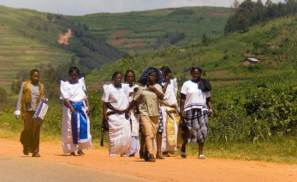 Uganda cultures - Bagamda Women walking