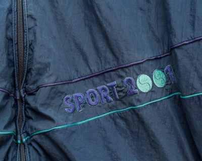 BLOUSON – SPORT 2001 – SPORT BLEU LISERET VIOLET TURQUOISE – Size XL