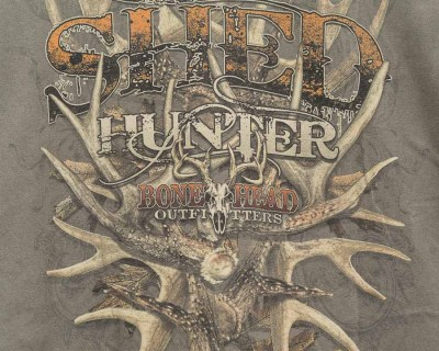 TEE SHIRT – BONE HEAD – SHED HUNTER – Size XL