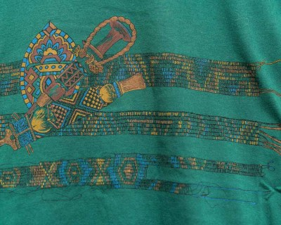 T-SHIRT – SAVIGLIANO – ARTS AND CRAFTS PRINT – Size L