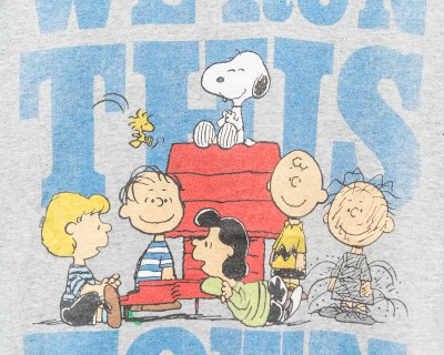 T-SHIRT – PEANUTS – WE RUN THIS TOWN – Size L