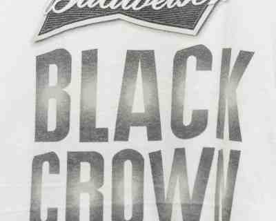 T-SHIRT – FRUIT OF THE LOOM – BLACK CROWN BUDWEISER – Size L