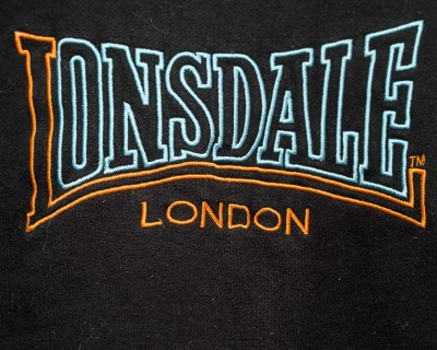 PULLOVER – LONSDALE – CREW NECK SWEATSHIRT LOGO EMBROIDERED – Size XL