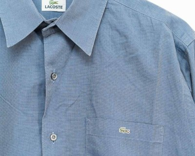 SHIRT – LACOSTE – LONG SLEEVE SMALL EMBROIDERED LOGO – Size XL