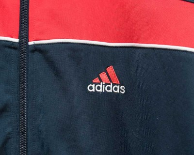JACKET – ADIDAS – TRACK RED BLUE – Size L