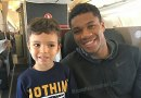 Giannis Antetokounmpo Sighting on Flight from Greece