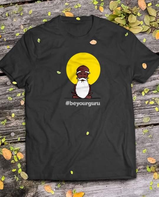 t-shirt uomo nera beyourguru