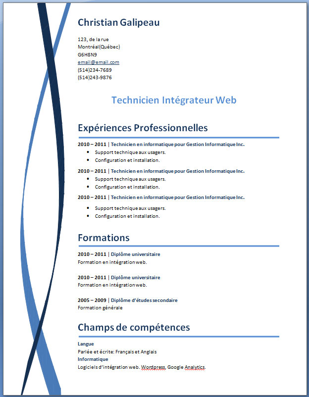 Simple Resume Formats Pdf Cv Secretaire Administrative Exemple Cv