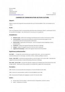Exemple De Cv Chargee De Communication Modele De Cv Exemples De Cv