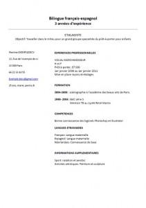 Exemple De Cv Etalagiste Modele De Cv Pour Decharger Exemples De Cv