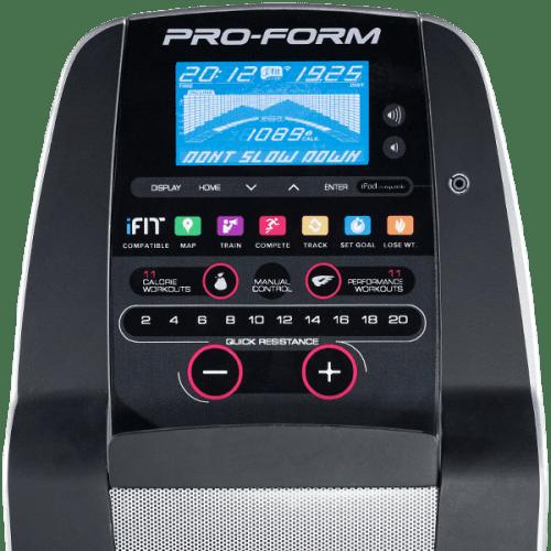 proform 6.0 ES recumbent bike console