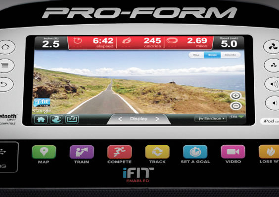 proform 14.0 upright bike console web browser