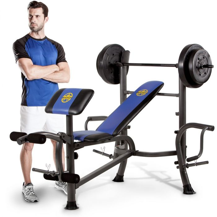 marcy mwb 36780b starter weight bench 35kg set butterfly arms