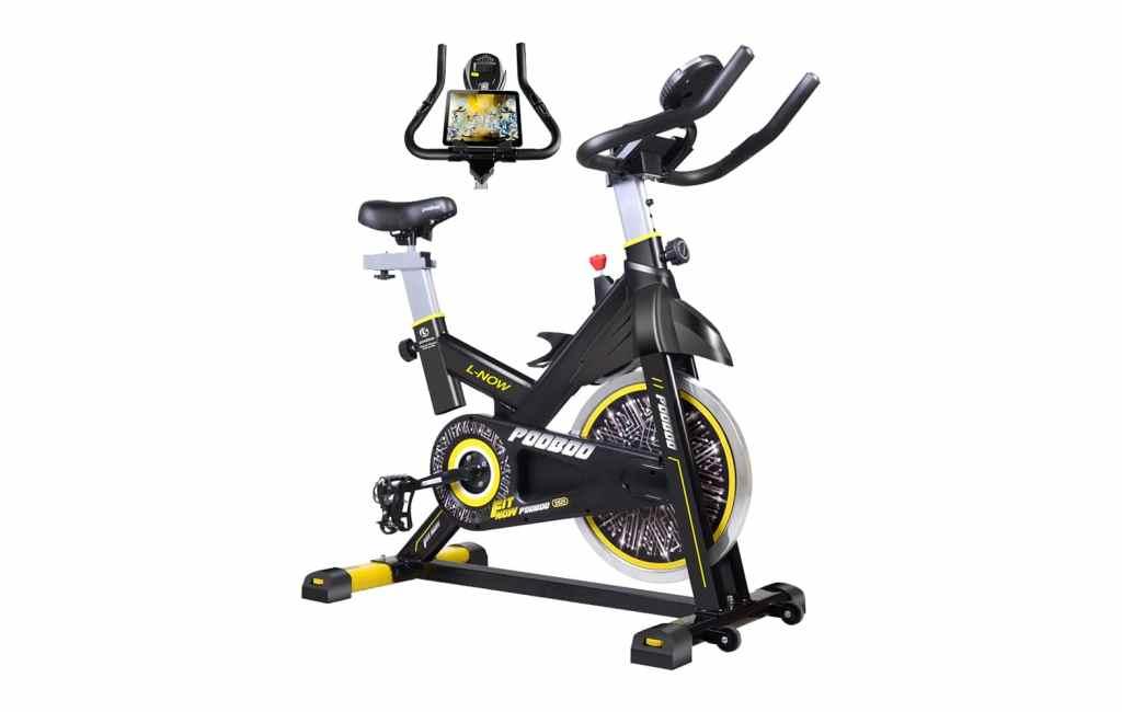 2.pooboo-Indoor-Cycling-Bike-Belt-Drive-Indoor-Exercise-1