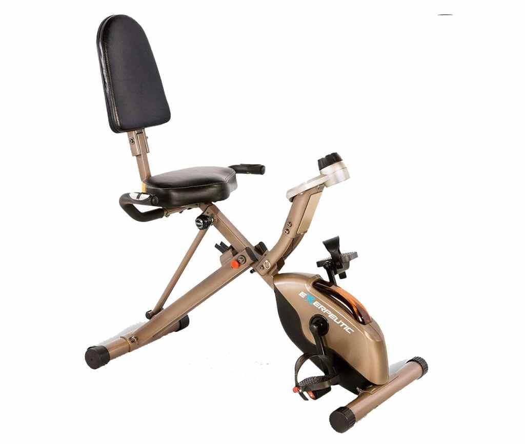 Exerpeutic Gold 525XLR Folding Recumbent Exercise Bike