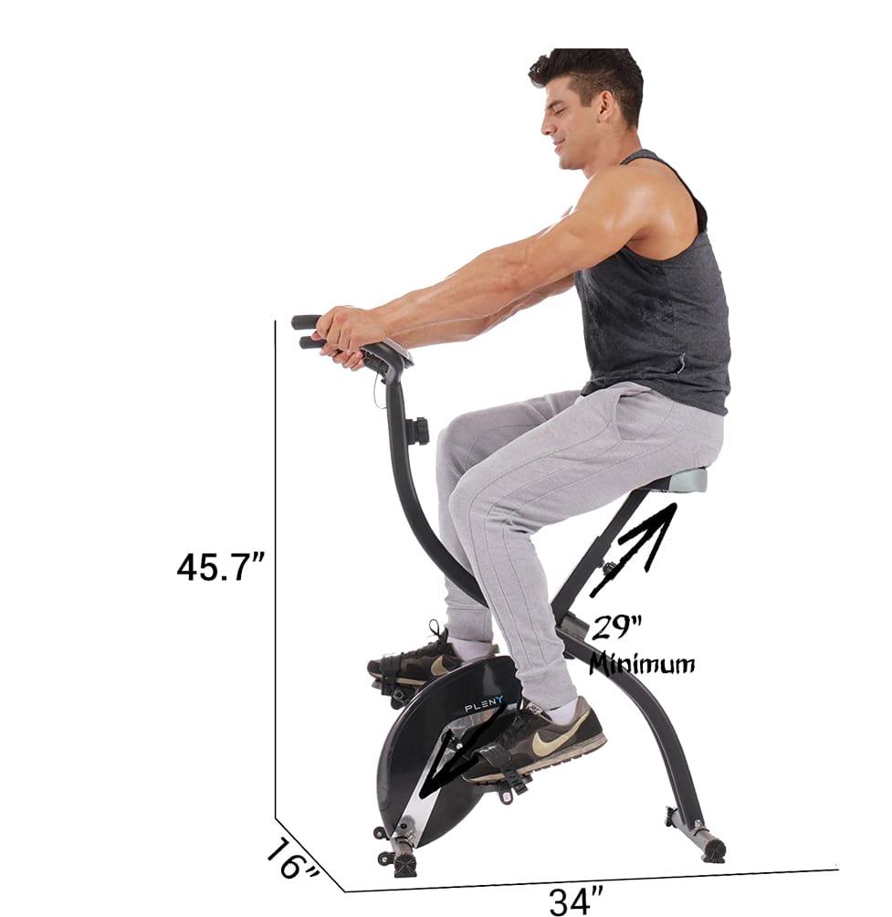 Pleny stationary foldable upright exercise bike