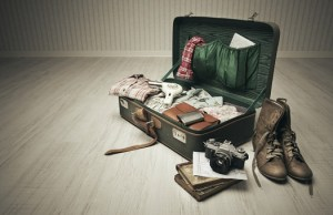 Packed Vintage Suitcase