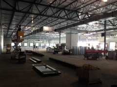 McShane construction crews completing framework.
