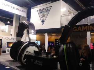 The Ignited-designed Turtle Beach double-decked booth at International CES 2014.