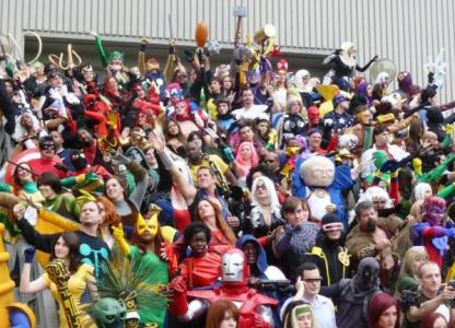 Superhero characters descend on Comic-Con International every year.