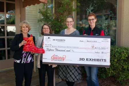3D Exhibits donated $15,000 to Ronald McDonald House Charities of Greater Las Vegas.