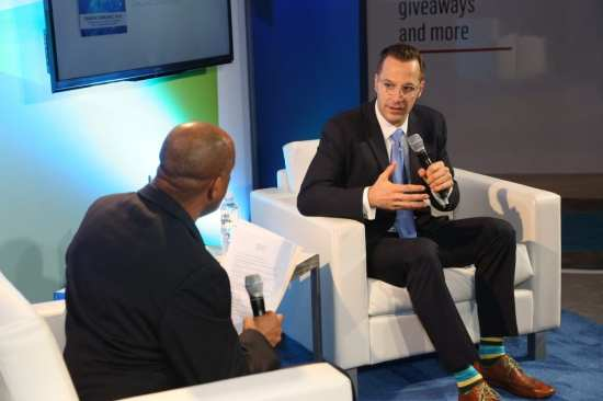 """Shawn DuBravac, Ph.D., CEA's chief economist and author of """"Digital Destiny: How the New Age of Data will Transform the Way we Work, Live and Communicate"""" talks trends at Gary's Book Club during 2015 International CES."""