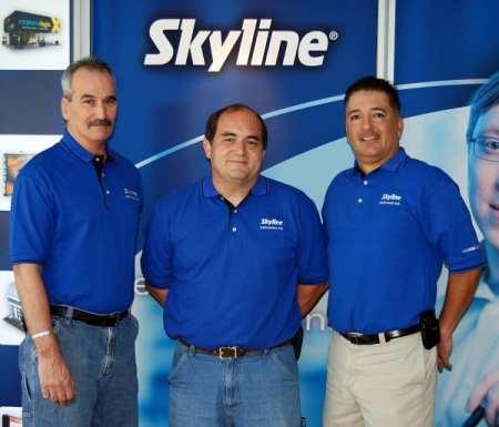 The primary Skylink team: Larry Rahill, Denis Feria and John Balderrama
