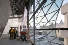 Construction on the Ottawa Convention Center