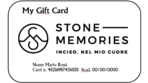 Gift card Stone Memories