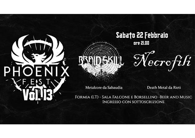 Necrofili live at Phoenix Fest – Sabato 22 febbraio 2020 a Formia