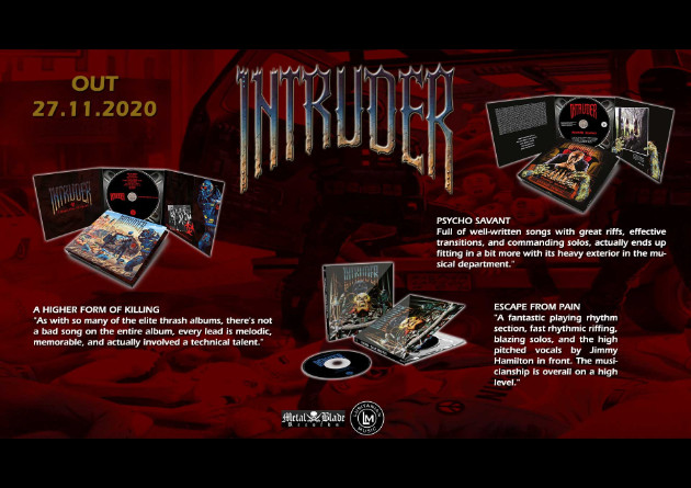 Lusitanian Music set November 27th as release date for re-issue of two albums and EP of legendary Thrash metal band Intruder