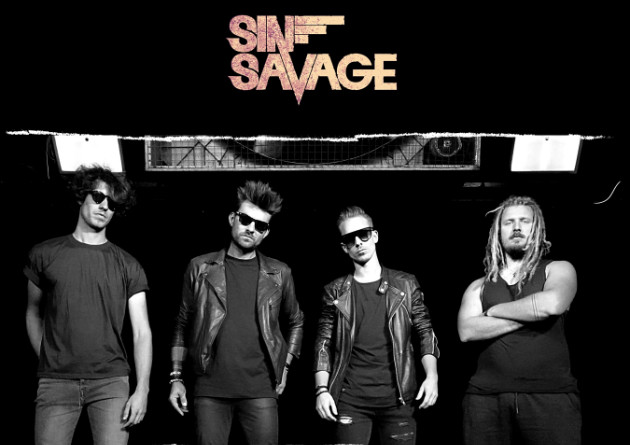 New single from Belgian rock/metal band Sin Savage, called 'Hearts Under Fire'