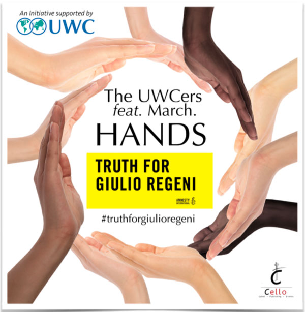 "The UWCers feat. March. canta per Giulio Regeni: ""Hands"" - Thruth For Giulio Regeni"