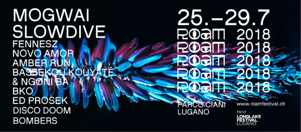 LONGLAKE FESTIVAL 2018: Roam Festival - Dal 25 al 29 luglio al Boschetto Ciani con Mogwai, Slowdive, Amber Run, Bassekou Kouyate & Ngoni Ba