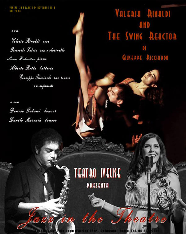 "Teatro Ivelise presenta: ""Jazz in the Theatre"" il 23 e 24 novembre alle ore 21.00"