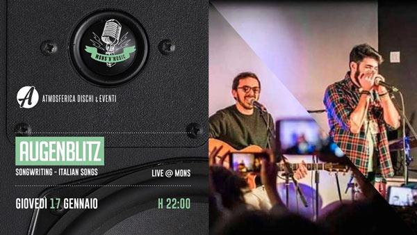 Augenblitz, la band rivelazione del Premio Fabrizio De André 2018 ospite del Mons