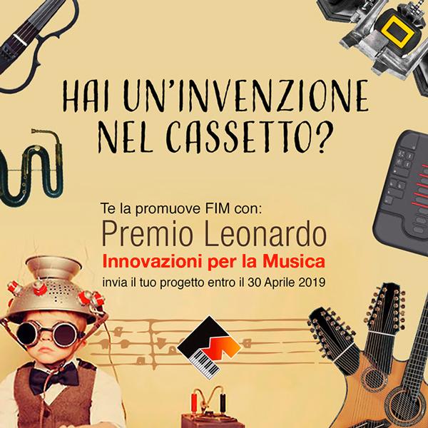 Premio Leonardo 2019, concorso delle Idee Innovative per la Musica