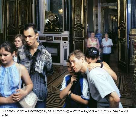Thomas Struth – Hermitage 6, St. Petersburg – 2005 – C-print – cm 116 x 144,5 – ed. 7/10