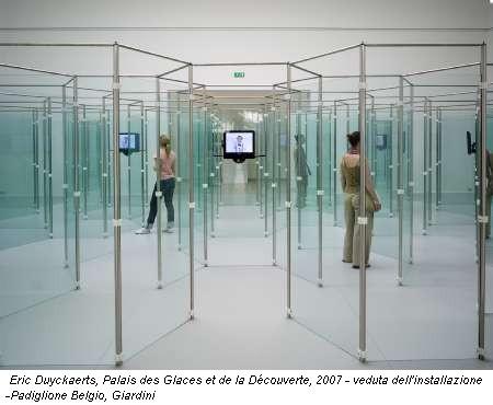 Eric Duyckaerts, Palais des Glaces et de la Découverte, 2007 - veduta dell