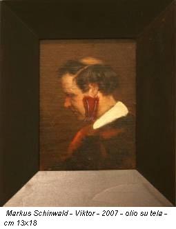 Markus Schinwald - Viktor - 2007 - olio su tela - cm 13x18