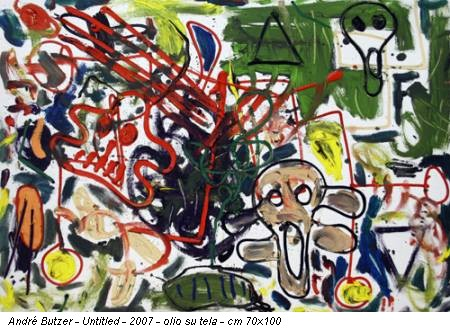 André Butzer - Untitled - 2007 - olio su tela - cm 70x100