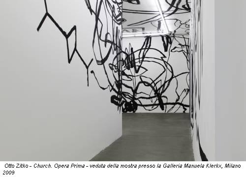 Otto  Zitko - Church. Opera Prima - veduta della mostra presso la Galleria  Manuela Klerkx, Milano 2009