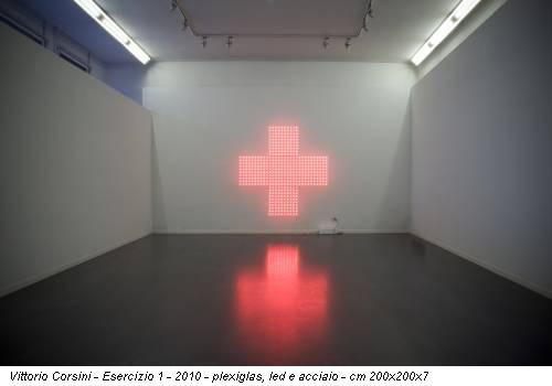 Vittorio Corsini -  Esercizio 1 - 2010 - plexiglas, led e acciaio - cm 200x200x7