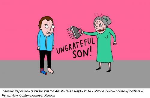 Laurina Paperina - (How to) Kill the Artists (Man Ray) - 2010 - still da video - courtesy l'artista & Perugi Arte Contemporanea, Padova