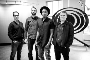 Left to Right: Joel Klaiman Executive Vice President and General Manager of Columbia Records, Ben Washer Co-­‐Owner/CEO of Reach Records, Lecrae, and Rob Stringer Chairman and CEO of Columbia Records.
