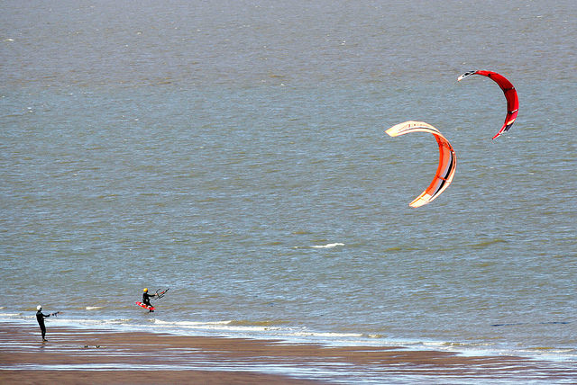 Kite surfing, Exmoor